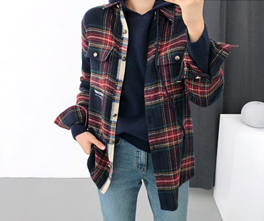 발렌 CHECK-Shirt (BEST )